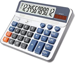 $37 » Calculator, 12-Digit Solar Cell Office Calculator with Large LCD Display, Large Sensitive Buttons, Dual Power Desktop Calc...