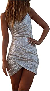 Kstare Women's Sexy Layered Evening Bandage Dresses Elegant Formal Women Club Look Wear Party Sequin Tank Dress