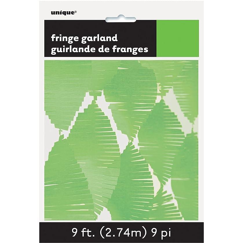 9ft Lime Green Tissue Paper Fringe Garland