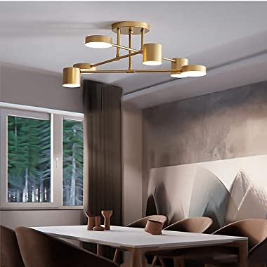 Iron Chandelier Post Modern Modern Creative Living Room Bedroom Dining Room 6 Three-Color Chandelier