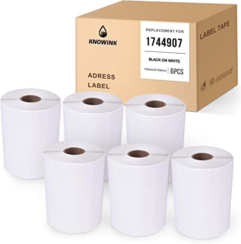 discount KNOWINK Compatible Label Tape Replacement for Dymo 1744907 Use for White Shipping &Postage Label LabelWriter Dymo 4XL Printers (4Inch x 6Inch(104mm x 159mm) new arrival ,220 outlet online sale Labels/roll,6 Rolls) outlet sale