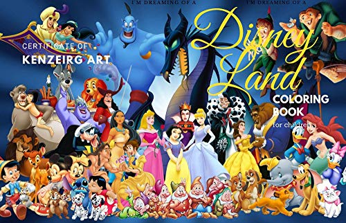 Disney Land : Disney Land Colouring Book For children And Adults, +50 wonderful HQ Pages For Entertainment. (English Edition)
