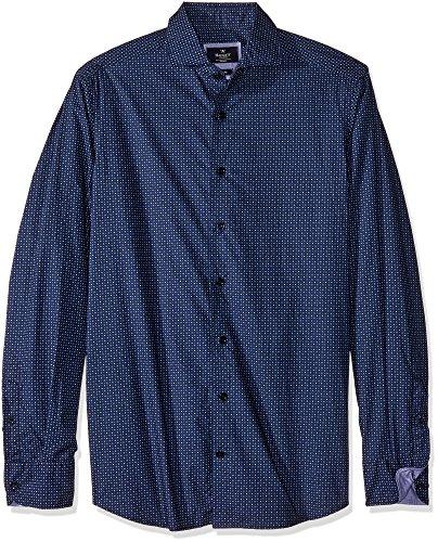 Hackett Target Print Mens Shirt L Navy