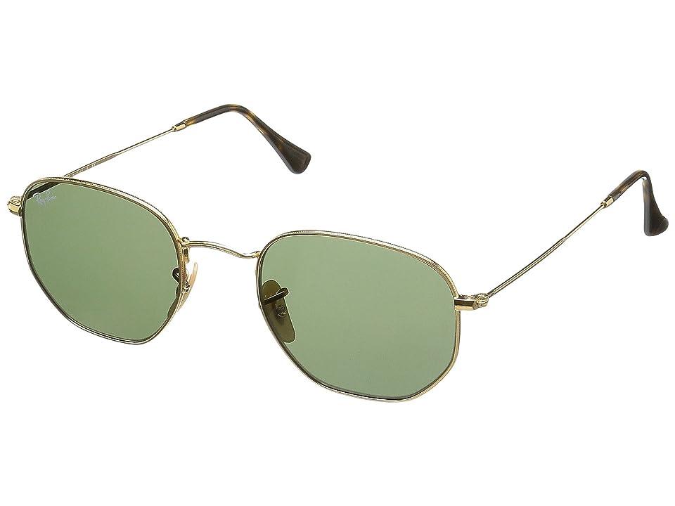 Ray-Ban 0RB3548 Hexagonal Flat Lenses 51mm (Gold) Fashion Sunglasses
