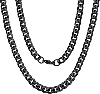 3/4/6/9/12mm Box/Cuban Link Chain Necklace,14/18/22/24/26/28/30 inch, 316L Stainless Steel/Gold Plated/Box (Send Gift Box)