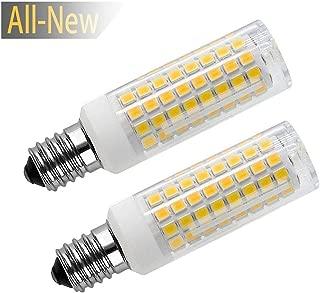 All New E14 LED Light Bulbs Bulbs, E14 LED ScrewBulb 8 Watt Halogen Equivalent 75 W 730 Lumens Warm White 3000K, 102PCS 2835SMD 2 Pack (E14-Warm White)
