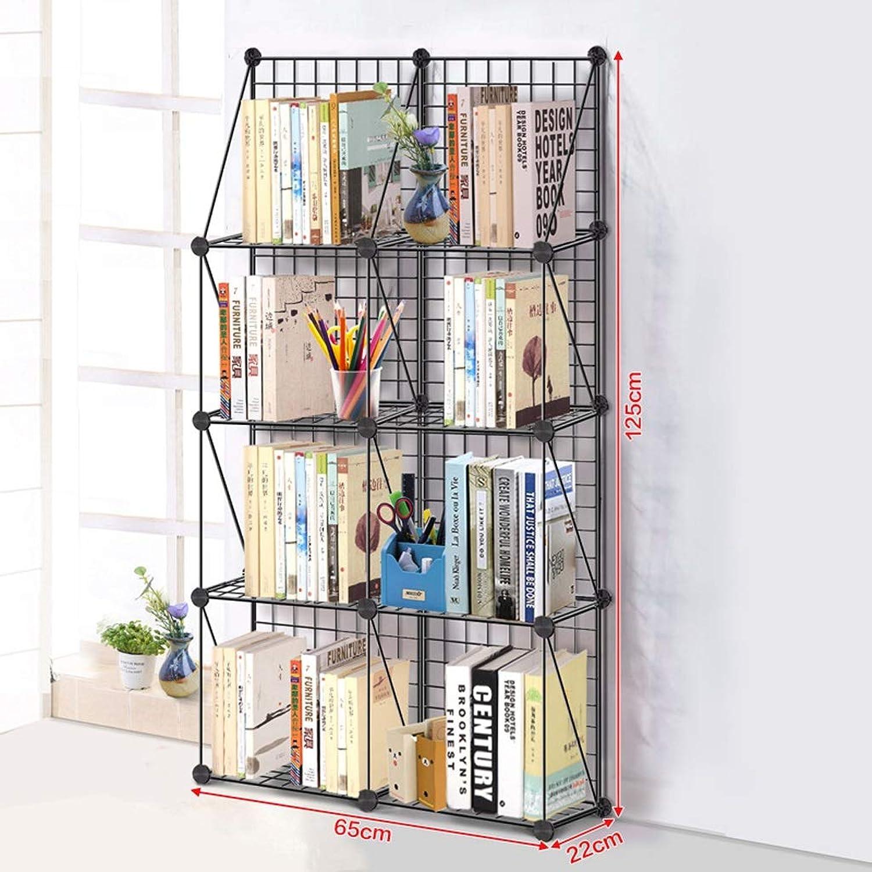 Iron Racks Multi-Layer Bookshelf ,Bedroom Living Room Bathroom Floor Standing Kitchen Storage Rack 4 Layer