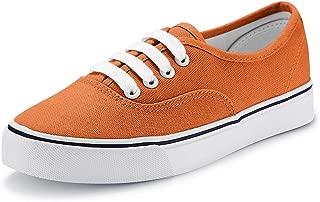 jenn ardor Women Canvas Sneaker Casual Core Classic Skate Shoes Low Cut Espadrilles Lace up Comfortable