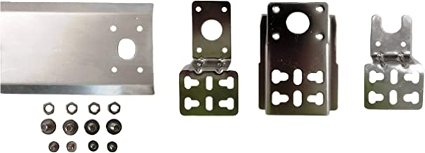 OneGrill Chrome Steel Universal Style Grill Rotisserie Bracket Set