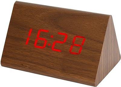 Despertadores Dormitorios Durmientes Pesados Control de Voz Luz Nocturna Relojes Digitales Pantalla 3 Configuraciones
