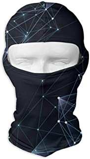 Abstract Concept with Polygon Picture Balaclava Hood Skull Full Face Mask Outdoor Sports Cycling Ski Motorcycle Hiking Skateboard Mask White