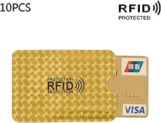 KOVIPGU 10pcs RFID Credit ID Card Sleeve Protector Blocking Safety Shield Anti Theft