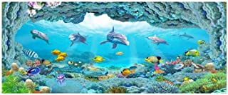 Mural pared 3D Papel tapiz fotográfico 3d en una pared Sea world dolphin aquarium decoración para el hogar sala de estar fondo 3d murales de pared papel tapiz para paredes 3 d-360 X 280CM