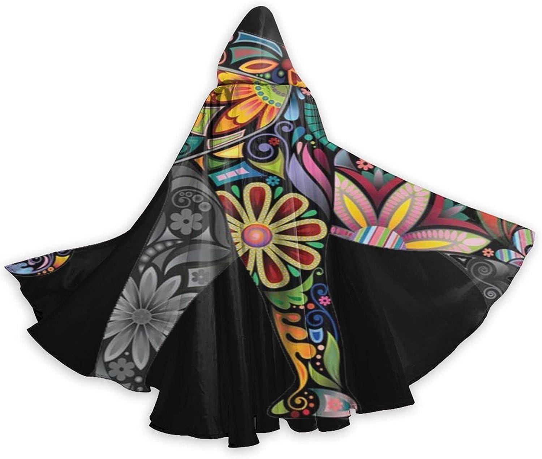 Halloween Cloak Cape Indian Elephant Clo Black Mandala Max 45% OFF Price reduction