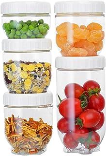 Lot de 6 boîtes de rangement de cuisine en plastique hermétique durable transparent