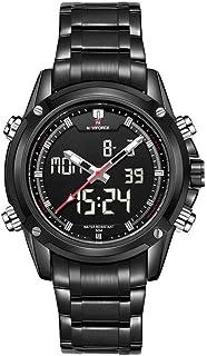 Naviforceスポーツ時計メンズクォーツ手首腕時計ミリタリーウォッチメンズ鋼メンズ腕時計リコロマスカルノ2019
