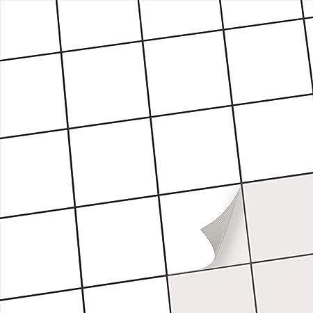 Klebefliesen Fliesen Uberkleben Statt Fliesenlack Oder Fliesenfarbe I Fliesen Folie Aufkleber Sticker Fur Kuchen Und Badezimmer Fliesen Und Wandfliesen I 10x10 Cm Muster Weiss 20 Stuck Amazon De Kuche Haushalt