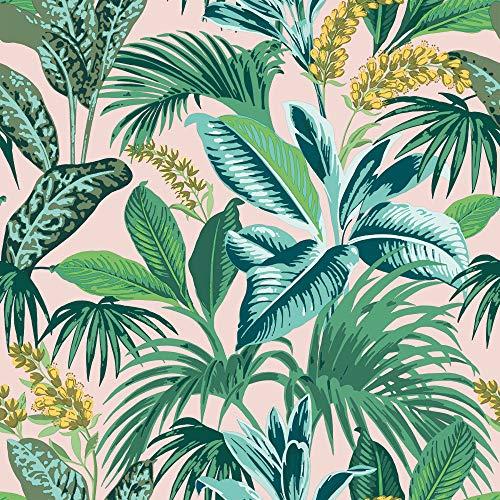 Pink Botanical Havana Palm Removable Wallpaper