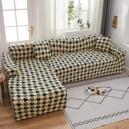 PPMP Elastic stretch sofa cover, used for living room spandex sofa cover, sofa cover, stretch sofa towel, L shape, sofa cover A7 3 seater