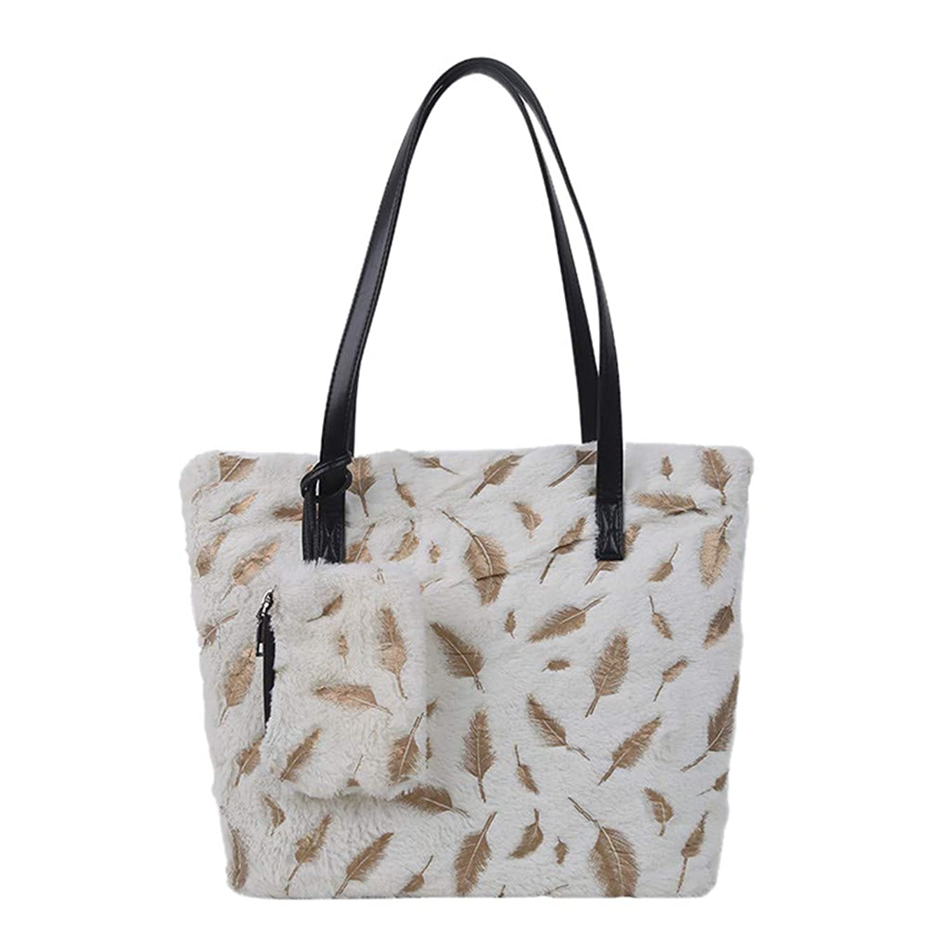 基礎概念形状ファッション女性の屋外単色大容量ぬいぐるみショルダーバッグハンドバッグ