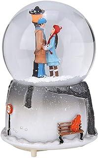 Globo de nieve musical LED, bola de música, caja de música Castle in the Sky, decoración musical de adornos de copos de ni...