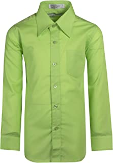 Tuxgear Boys Long Sleeve Button Up Formal Dress Shirt in Assorted Colors