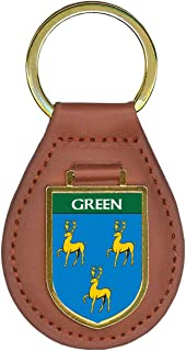 Green Family Crest Coat of Arms Total Key Chains