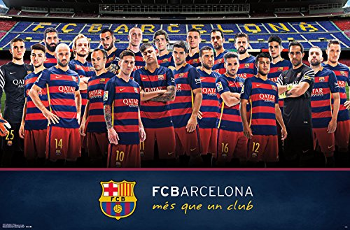 "Trends International FC Barcelona Team Wall Poster 22.375"" x 34"""
