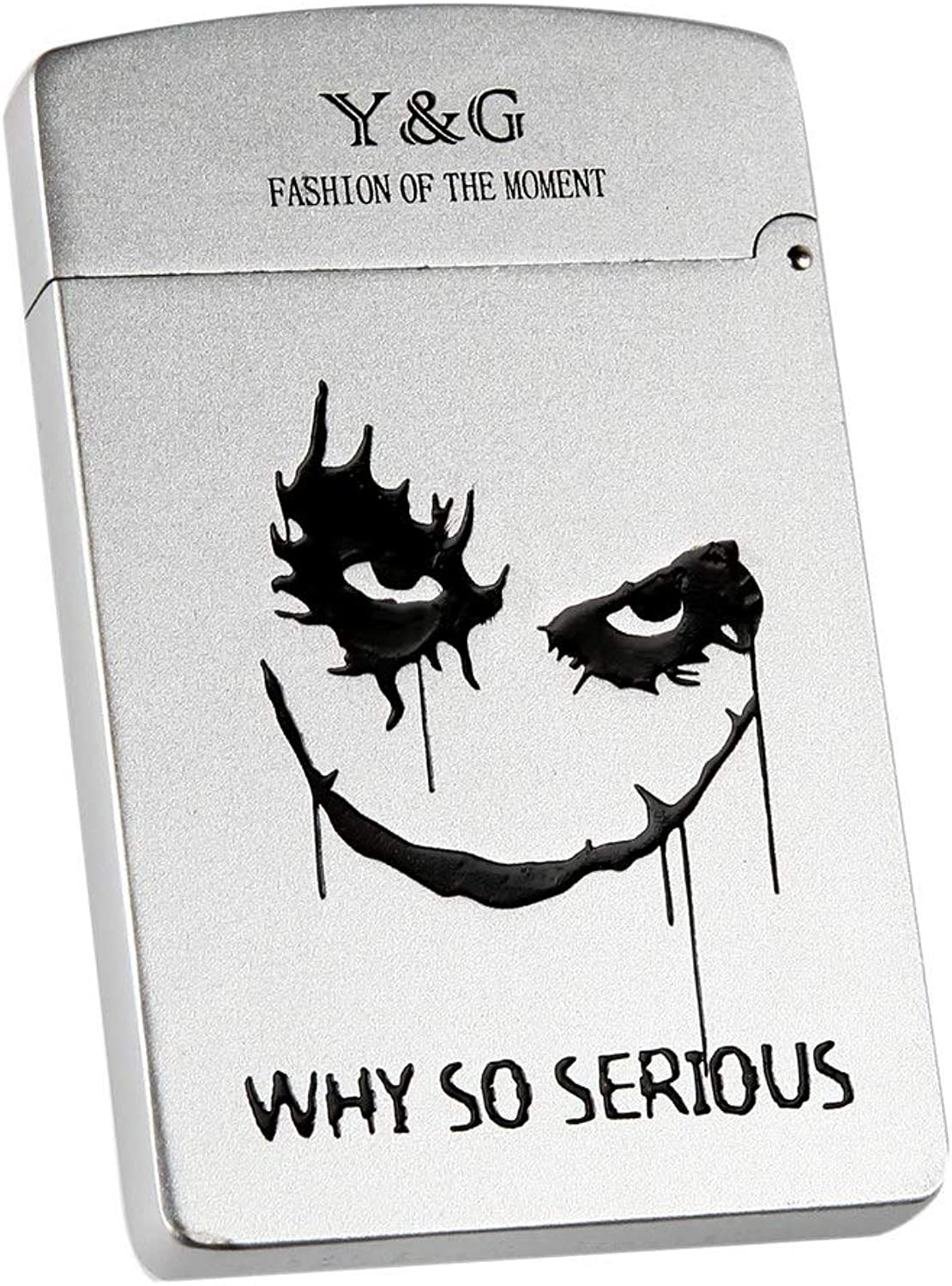 MC4002 Way So Serious Clown AlloyStainless steel Business Card Holders   Credit card Gift Ideas For Men By Y&G
