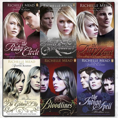 Richelle Mead Bloodlines 6 Books Collection Set (Bloodlines, The Golden Lily, The Indigo Spell, The Fiery Heart, Silver Shadows, The Ruby Circle)