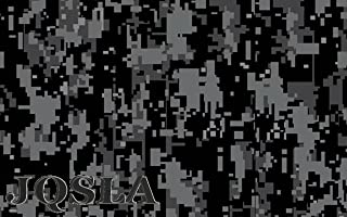"JQSLA Digital Black Gray Camouflage Premium Vinyl Car Wrap Decal Film Sheet Air Channel Release Technology + Free Tool Kit (240"" x 60"" / 20FT x 5FT)"