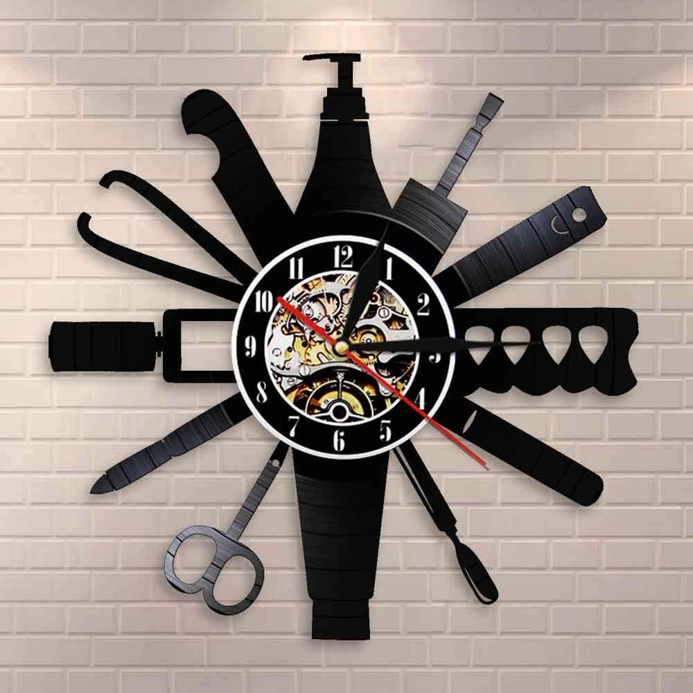Diameter 30cm Nail Room Sign Manicur Tools All stores are sold Clock Rare Wall Salon