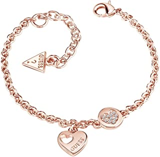cc07bd854c Guess Ladies Heart Devotion Rose Gold Plated Crystal Bracelet UBB82059-L