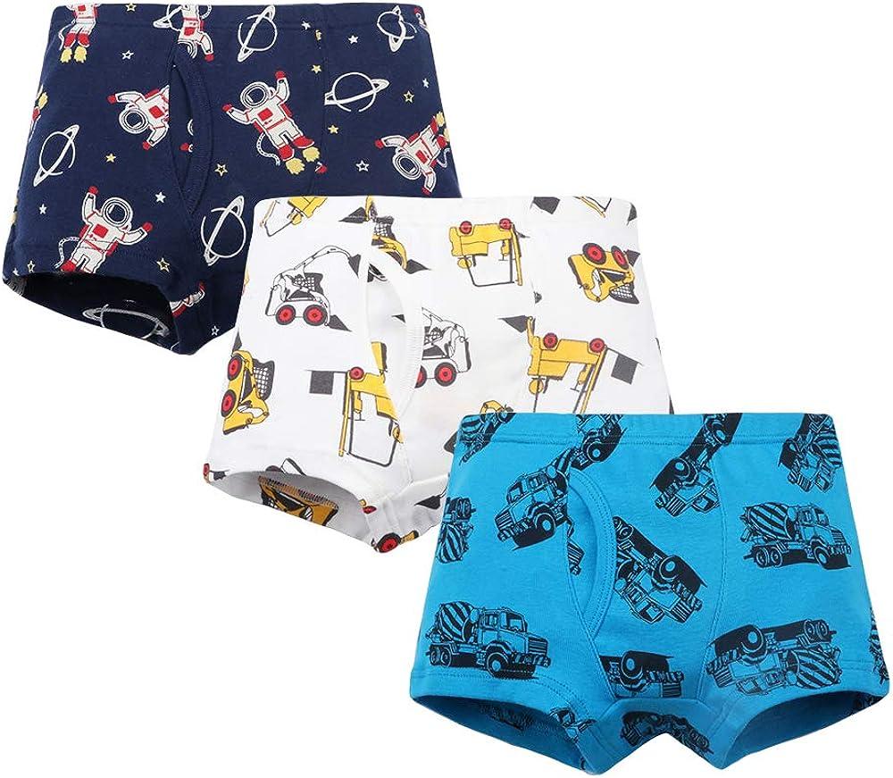 Little Bear Family Boys Soft Cotton Boxer Dinosaur Kids Underwear