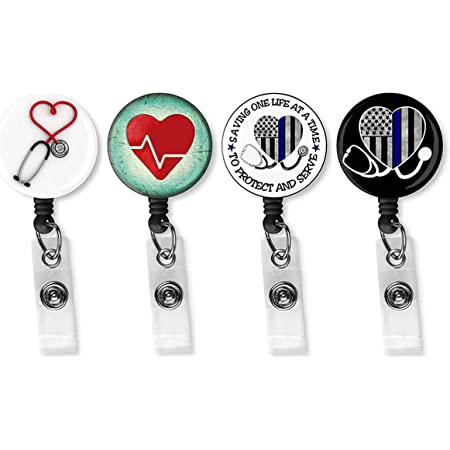 Nurse Retractable Badge Reels// ID Holder I Am Stronger Than the Storm