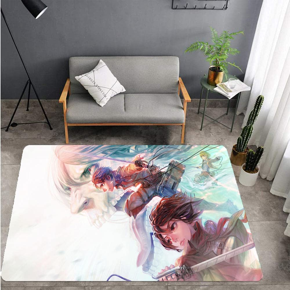 Doormat Challenge the Super sale period limited lowest price Multi-Colour 40 x 60 cm.Attack On Titan-A_60x90cm