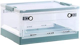 Boîte de rangement double de porte pliante ZQCM, transparent avec couvercle Boîte de rangement jouet Vêtements de stockage...