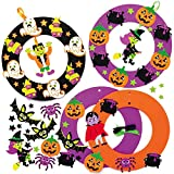 Baker Ross AX256 Kit Ghirlande Di Halloween - Pack Of 3, Ghirlande Da Progettare E Decorare, Ideale Per Decorazioni Di Halloween, Ornamenti, Per Porte E Attività Per Feste