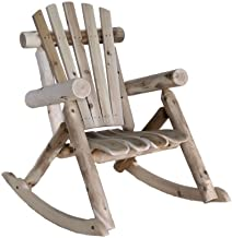 product image for Lakeland Mills Cedar Log Rocking Chair, Natural