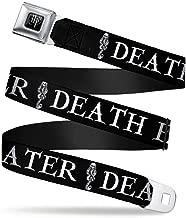 Buckle-Down Seatbelt Belt - DEATH EATER/Dark Mark Black/White - 1.5