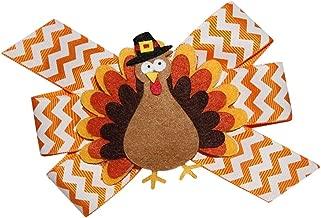WD2U Girls Chevron Pilgrim Tom Turkey Thanksgiving Hair Bow French Clip Barrette