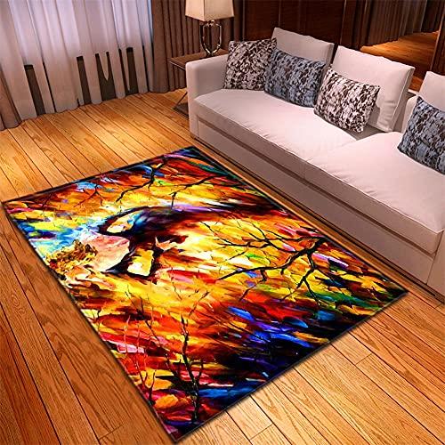 Alfombra Salon -130x190cm Color, Alfombra Modernas Grandes Pelo Corto, Alfombras Cocina Antideslizante Lavables, alfombras baño, Alfombra Infantiles habitacion, Dormitorio alfombras