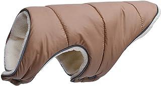 Surprise S Warm Winter Dog Clothes Coat Pet Jacket Reflective Puppy Clothing Vest Fleece Small Medium Large Big-Light Brow...