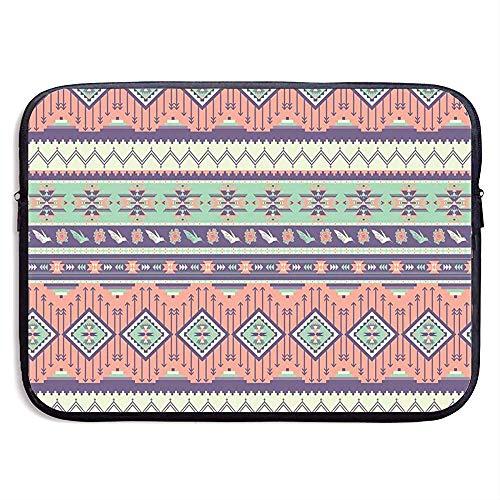 Beschermhoes van neopreen, voor tablets, laptops met Aztec Rose Blooms Birds Geometric Arrow Laptophoes voor tablet, compatibel 13 Inch