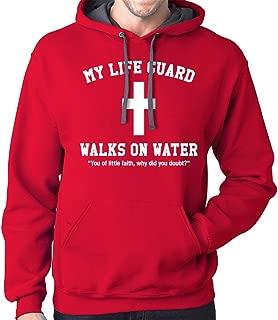 my lifeguard walks on water hoodie