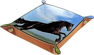 Vockgeng Cheval Noir Boîte de Rangement Panier Organisateur de Bureau Plateau décoratif approprié pour Bureau à Domicile t...