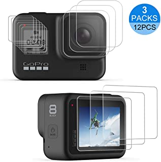 laxikoo Protector de Pantalla para GoPro Hero 8 Black [12 Piezas] Película Protectora de Pantalla LCD+Película Protectora de Lente+ Protección de Pequeña Pantalla Accesorios para GoPro Hero 8 Cámara