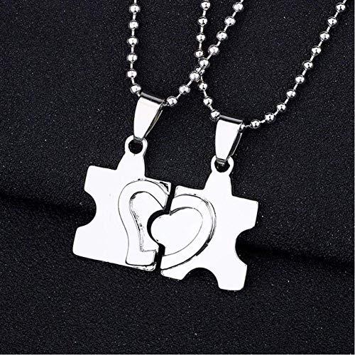 Collar De Hombre Te Amo Mejores Amigos Collar De Pareja Joyas Rompecabezas Cerradura De Llave Tai Chi Colgantes De Corazón