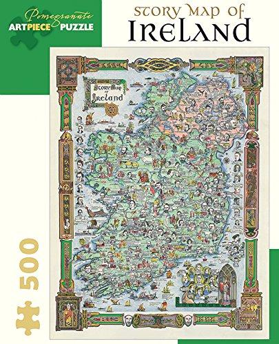 Pomegranate Story Map of Ireland 500-piece Jigsaw Puzzle