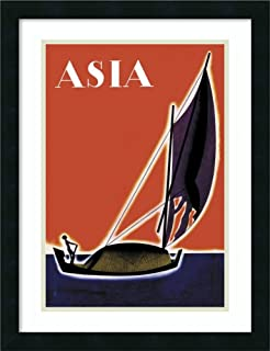Framed Wall Art Print On One of The Seven Seas with Title, 1931 by Frank Mcintosh 18.00 x 24.00